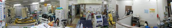 リハビリ室パノラマ写真